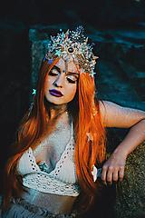 Ozdoby do vlasov - Mušličková koruna z kolekcie Mermaid dream - 9831777_