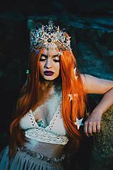 Ozdoby do vlasov - Mušličková koruna z kolekcie Mermaid dream - 9831779_