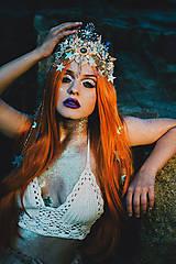 Ozdoby do vlasov - Mušličková koruna z kolekcie Mermaid dream - 9831780_