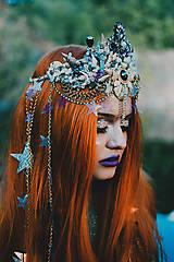 Ozdoby do vlasov - Mušličková koruna z kolekcie Mermaid dream - 9831781_