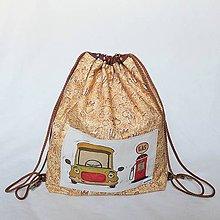 Detské tašky - Dětský batůžek/pytlík - Hladový auťák- 29x33 - 9830268_