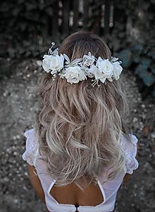 """Ozdoby do vlasov - Svadobný polvenček so Swarovski kamienkami """"sme len my dvaja"""" - 9829899_"""