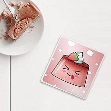 Pomôcky - Podšálka bláznivý puding(želé) (jahodový) - 9829821_