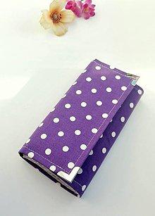 Peňaženky - Peňaženka- fialová bodka - 9835150_