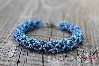 Náramky - náramok modrý - 9832461_