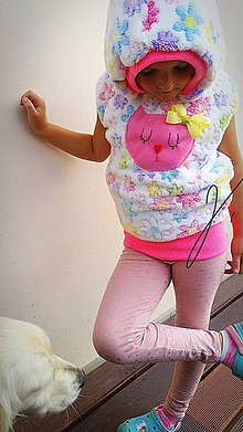 Detské oblečenie - Vesta mačička ;) - 9832795_