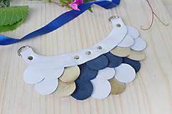Náhrdelníky - Slzičkový kožený náhrdelník - 9833767_