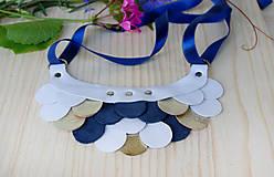 Náhrdelníky - Slzičkový kožený náhrdelník - 9833768_