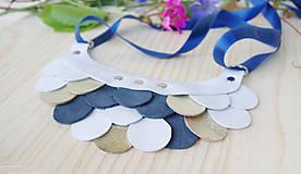 Náhrdelníky - Slzičkový kožený náhrdelník - 9833769_