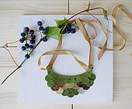 Náhrdelníky - Slzičkový kožený náhrdelník - 9833803_