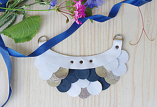 Náhrdelníky - Slzičkový kožený náhrdelník - 9833766_