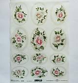 - Ryžový papier na decoupage - A4-R1326 - ruže, ružičky, roses - 9833871_