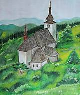 Obrazy - Kostol vo vetre - 9833335_