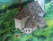 Obrazy - Kostolík - 9833336_