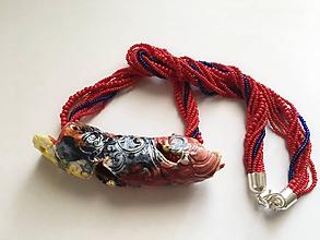 Náhrdelníky - keramika a korálky - 9833022_
