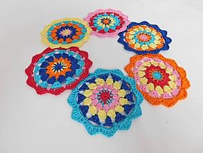 Úžitkový textil - Podšálky mandala - 9834471_