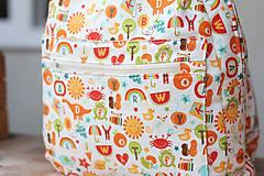 Detské tašky - Detský ruksak abeceda - 9834718_