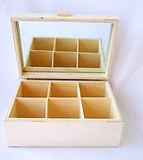 Polotovary - Krabička so zrkadlom 6 priečinková - 9835075_