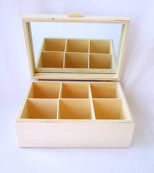 Krabička so zrkadlom 6 priečinková