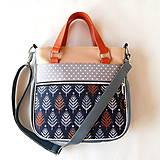 Veľké tašky - Big Sandy - Šedá s bodkami a so stromami - 9834575_