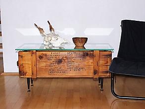 """Nábytok - konferenčný  stolík """"army"""" - 9834476_"""