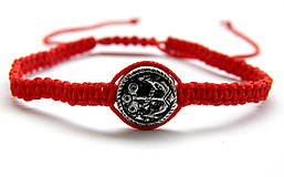 Náramky - minca kotva shamballa cervena - 9833657_