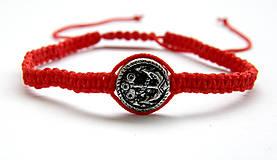 Náramky - minca kotva shamballa cervena - 9833659_