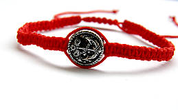 Náramky - minca kotva shamballa cervena - 9833660_
