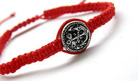 Náramky - minca kotva shamballa cervena - 9833664_