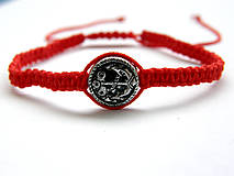 Náramky - minca kotva shamballa cervena - 9833666_