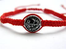 Náramky - minca kotva shamballa cervena - 9833667_