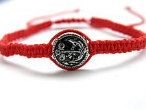 Náramky - minca kotva shamballa cervena - 9833669_