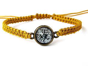 Náramky - zlate čičmany shamballa - 9833889_