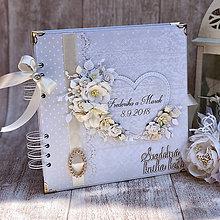Papiernictvo - Svadobná kniha hostí - 9834764_