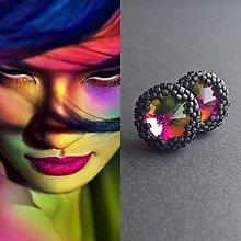 Náušnice - Rainbow - 9833772_