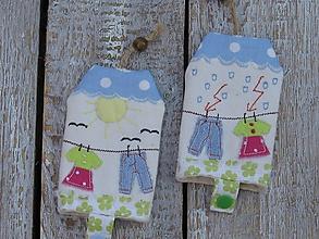 Detské doplnky - Kľúčenka «v záhrade» - 9835186_