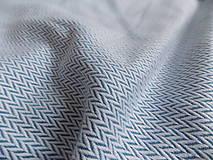 Textil - Lenny Lamb Little Herringbone Blue - 9835138_