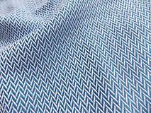 Textil - Lenny Lamb Little Herringbone Blue - 9835139_