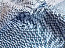 Textil - Lenny Lamb Little Herringbone Blue - 9835140_