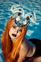Ozdoby do vlasov - Špeciálna koruna z kolekcie Mermaid dream - 9832406_