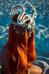 Ozdoby do vlasov - Špeciálna koruna z kolekcie Mermaid dream - 9832410_