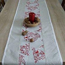 Úžitkový textil - Škandinávske Vianoce(2) - obrus stredový dlhý 160x40 - 9835031_