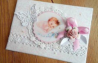 Papiernictvo - blahoželanie k narodeniu dievčatka - 9834520_