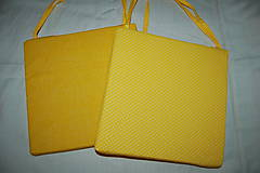 Úžitkový textil - žltý podsedák - 9832644_