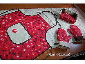 Úžitkový textil - chňapka červené jablko - 9832583_