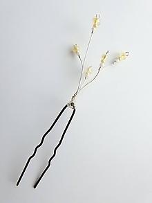 Ozdoby do vlasov - Stredné vlásenky (5 x 3 cm - Žltá) - 9832911_