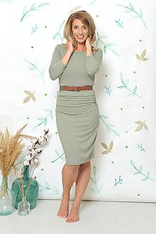 """Šaty - """"Rastúce"""" tehotenské i netehotenské - olivové - 9833072_"""