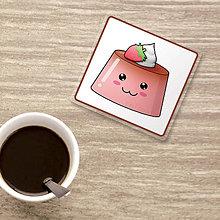 Pomôcky - Podšálka usmievavý puding(želé) (jahoda) - 9833106_