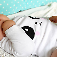 Detské oblečenie - Body panda - 9838286_