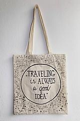 - Plátená taška- Traveling - 9835696_